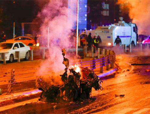 İstanbul'da patlama anı şok görüntüler!