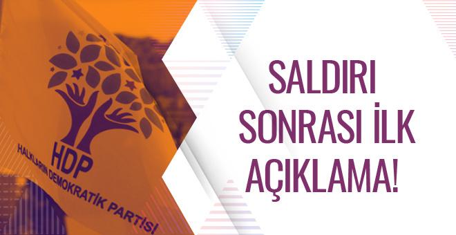 HDP'den İstanbul patlaması açıklaması!
