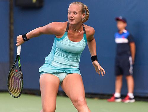 Tenisçi Kiki Bertens topu ıskalayınca rezil oldu!