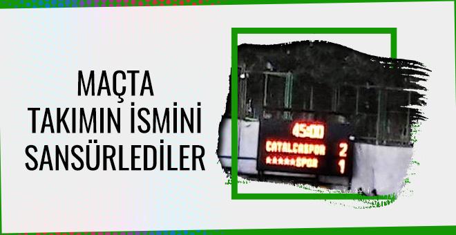 Maçta Dersimspor'un ismi sansürlendi