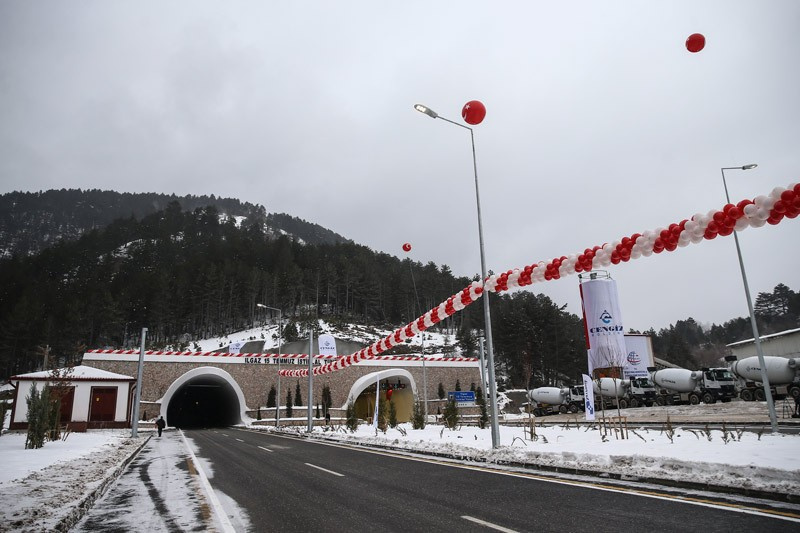 Trafiğe açılan en uzun tünel Ilgaz tasarımı göz doldurdu
