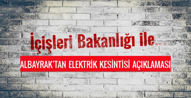 Elektrik kesintisinin nedeni Berat Albayrak açıkladı