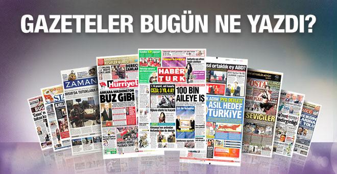 Gazete manşetleri 11 Şubat 2016