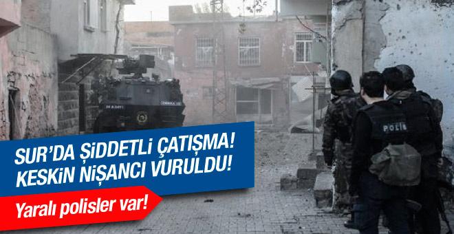 Sur'da şiddetli çatışma! Yaralı polisler var!