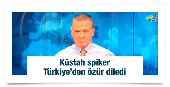 Türkler'e hakaret eden spiker özür diledi