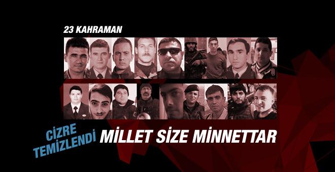Türkiye Cizre şehitlerini unutmayacak!