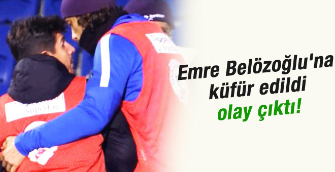 Emre Belözoğlu taraftarla kapıştı