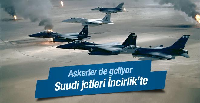Suudi savaş uçakları İncirlik'te