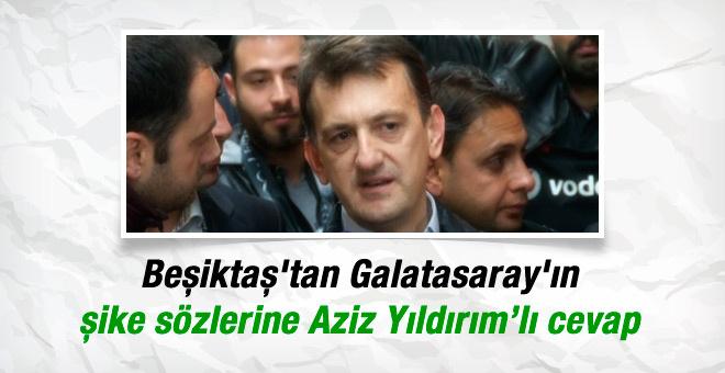 Beşiktaş'tan G.Saray'a Aziz Yıldırım'la cevap!