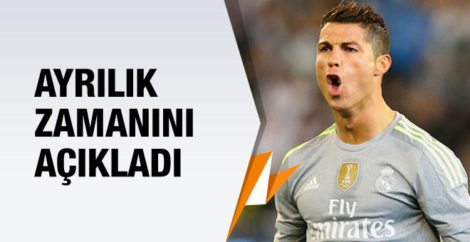 Ronaldo ayrılık vaktini açıkladı