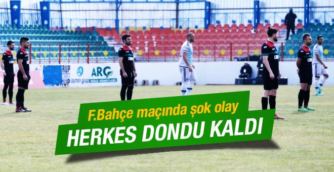 Amedspor'dan Fenerbahçe maçında şok protesto