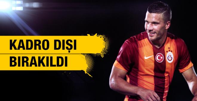 Lukas Podolski kadro dışı bırakıldı