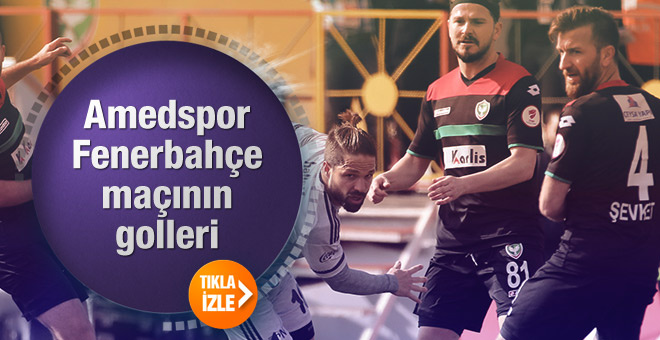 Amedspor Fenerbahçe maçının golleri burada - Tıkla gör