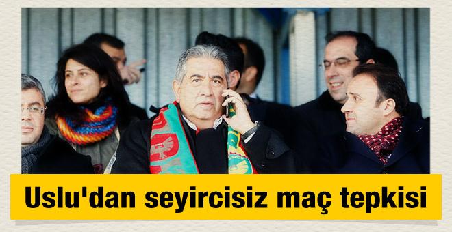 Mahmut Uslu'dan seyircisiz maç tepkisi