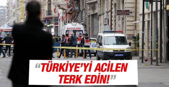 İsrail ve ABD'den uyarı: Acilen Türkiye'yi terk edin