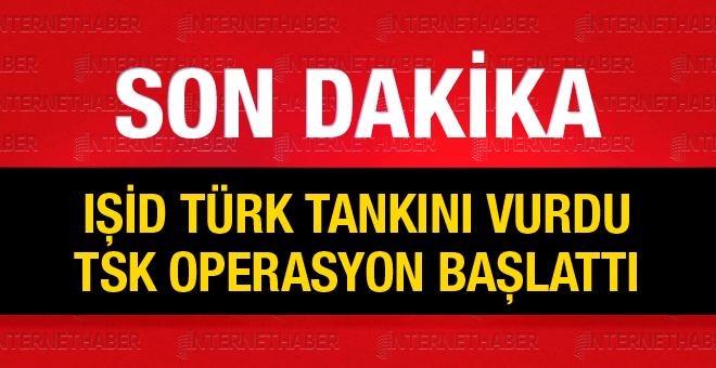 IŞİD'in vurduğu TÜRK tankının görüntüsü!