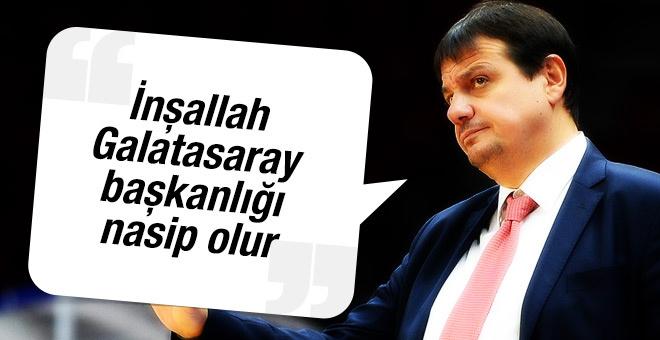 Ergin Ataman: Hedefim Galatasaray başkanlığı