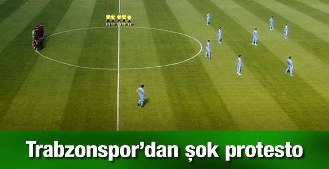 Eskişehirspor - Trabzonspor maçında görülmemiş protesto