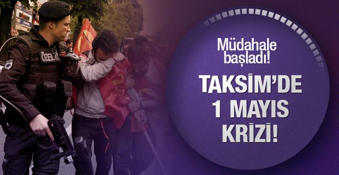 Taksim'de 1 Mayıs krizi! TOMA'lı müdahale