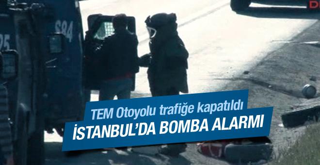 İstanbul'da bomba alarmı: TEM kapatıldı