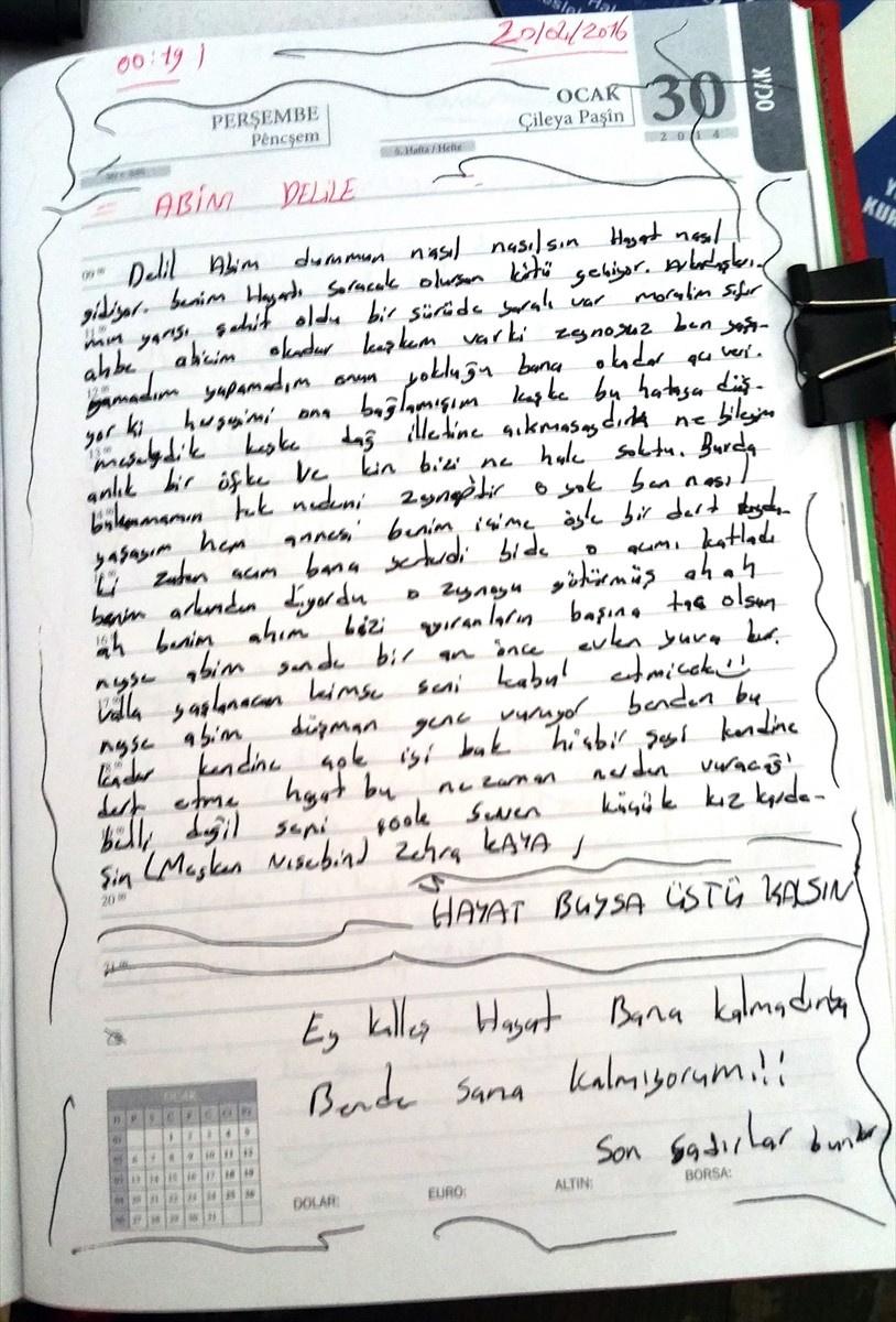 Kadın terörist PKK pişmanlığını not defterine yazdı!