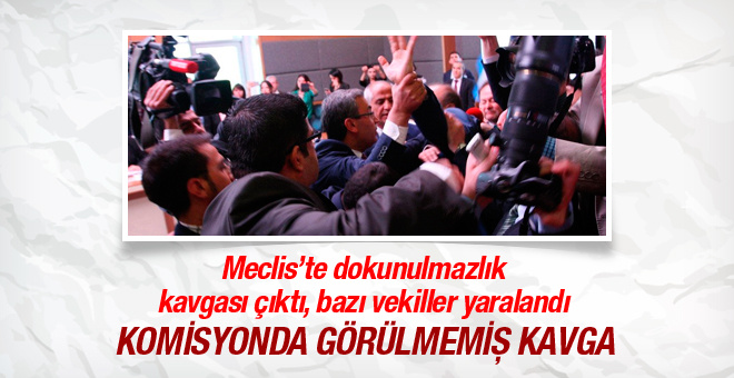Meclis Anayasa Komisyonu'nda yine kavga çıktı