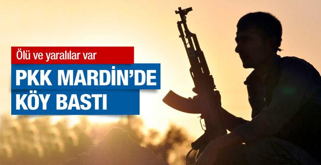 Mardin'de PKK'lılar köy bastı ölü ve yaralılar var
