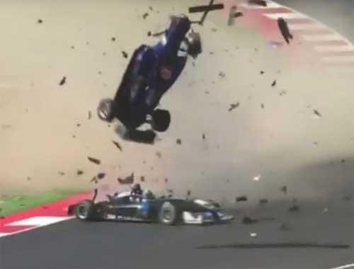 Formula 3'te inanılmaz kaza!