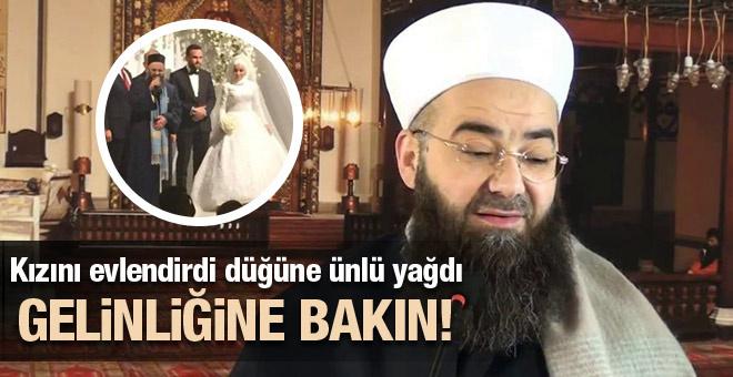 Cübbeli Ahmet Hoca kızını evlendirdi! Gelinliğine bakın