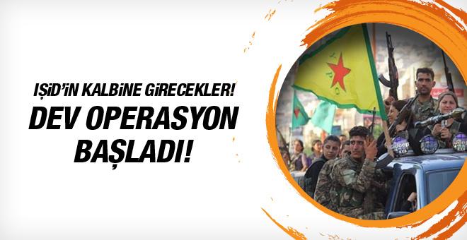 YPG ve ABD'nin Rakka operasyonu başladı!