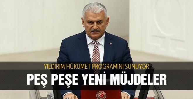 Başbakan Yıldırım programını açıklıyor!