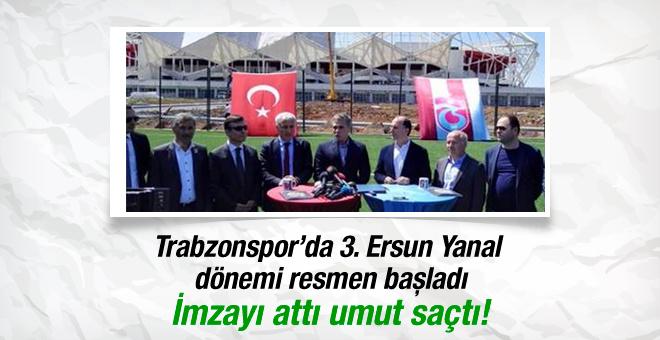 Ersun Yanal Trabzon'u ayağa kaldırmak için söz verdi