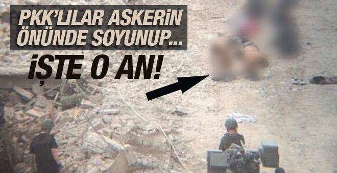 Nusaybin'de 42 PKK'lının teslim olma anı! Askerlerin önünde soyunup...