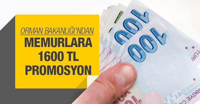 Memurlara 1600 lira promosyon