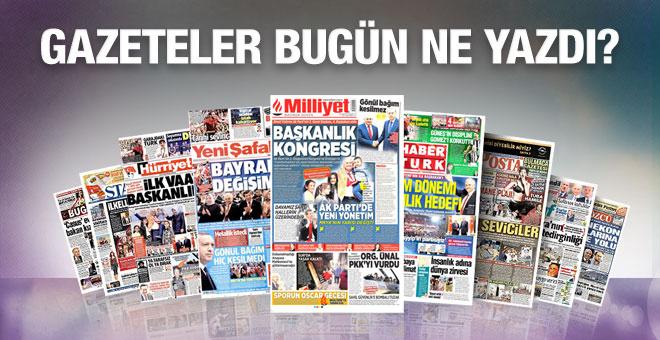 Gazete manşetleri 28 Mayıs 2016 bugünkü gazeteler