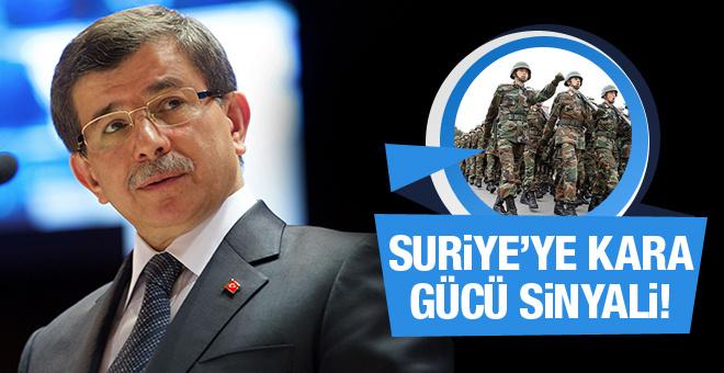 Davutoğlu'ndan Suriye'ye kara operasyonu mesajı!