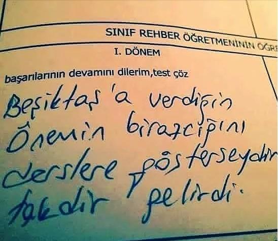 Çıldırtan öğrencilere öğretmenlerden karne notu