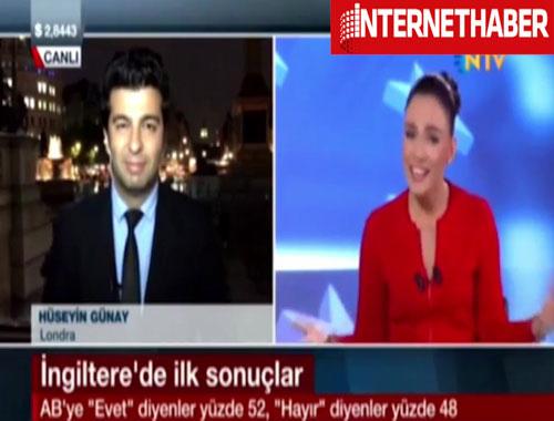 NTV Spikeri canlı yayında kahkahalara boğuldu