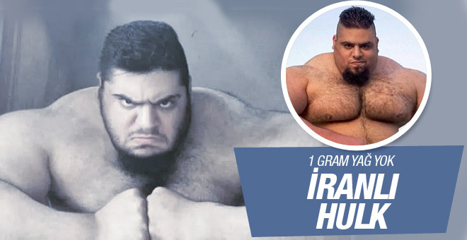 175 kiloluk İranlı Hulk!