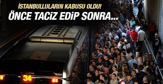 Metrobüs sapığı vatandaşı isyan ettirdi! Çektiği görüntüleri...
