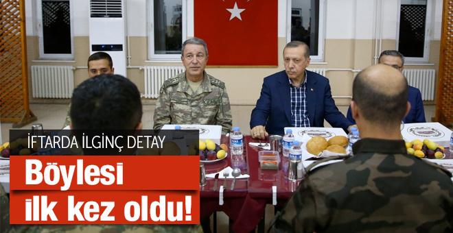 Erdoğan'ın katıldığı iftarda ilginç detay! Bu ilk kez oldu