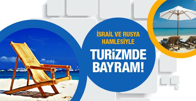 Turizmde İsrail ve Rusya bayramı!