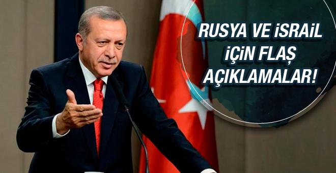Erdoğan'dan İsrail ve Rusya açıklamaları...
