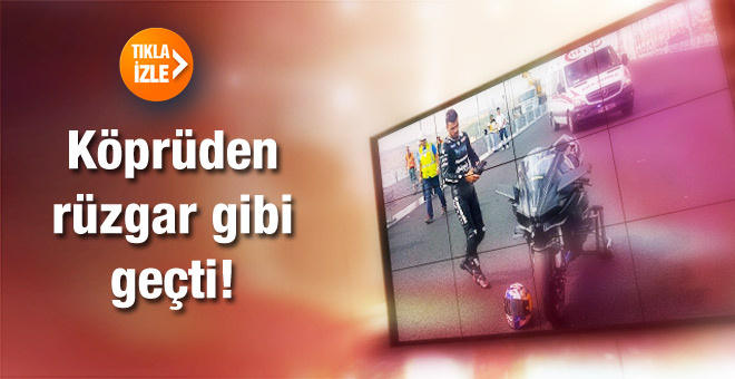 Kenan Sofuoğlu Osmangazi Köprüsü'nden rüzgar gibi geçti