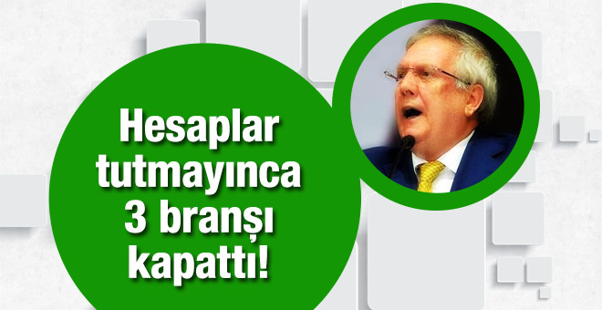 Fenerbahçe'de 3 branş kapatılıyor