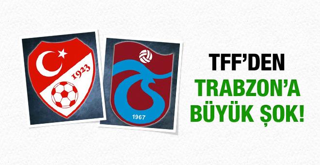 TFF'den Trabzonspor'a lisans verilmedi