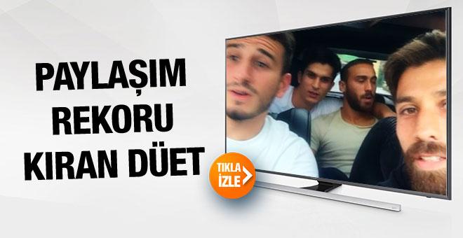 Beşiktaşlı futbolculardan paylaşım rekoru kıran düet