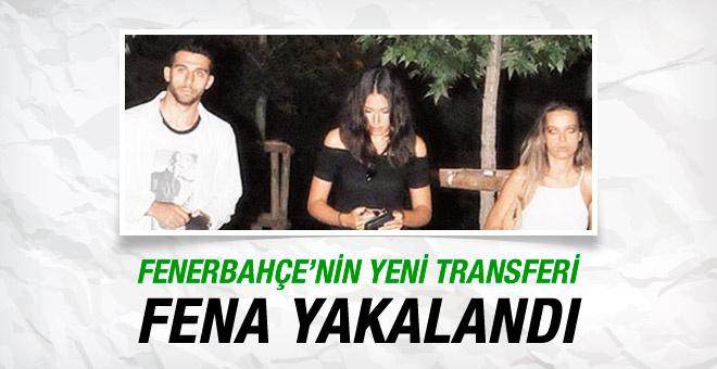 F.Bahçe'nin yeni transferi fena yakalandı