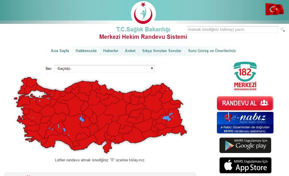 MHRS randevu alma e-devlet sorgulama ekranı