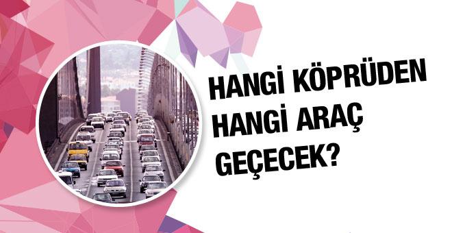 Hangi araba hangi köprüden geçecek?